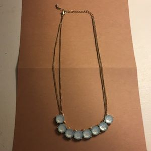 Lauren Conrad Gold Blue Gem Necklace